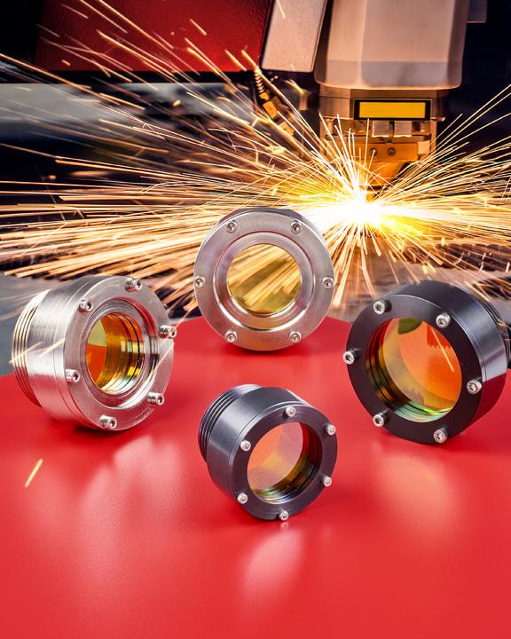American Made mounted laser focusing lenses