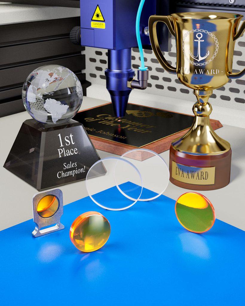 Engraving optics
