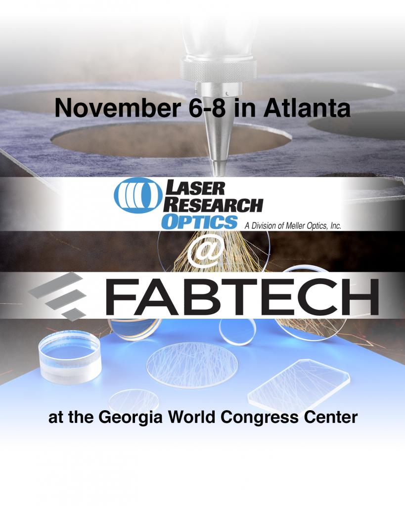 Laser Research Optics at FABTECH 2018