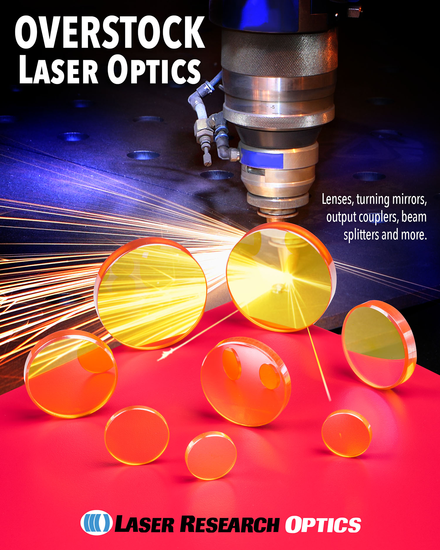 Overstock laser optics
