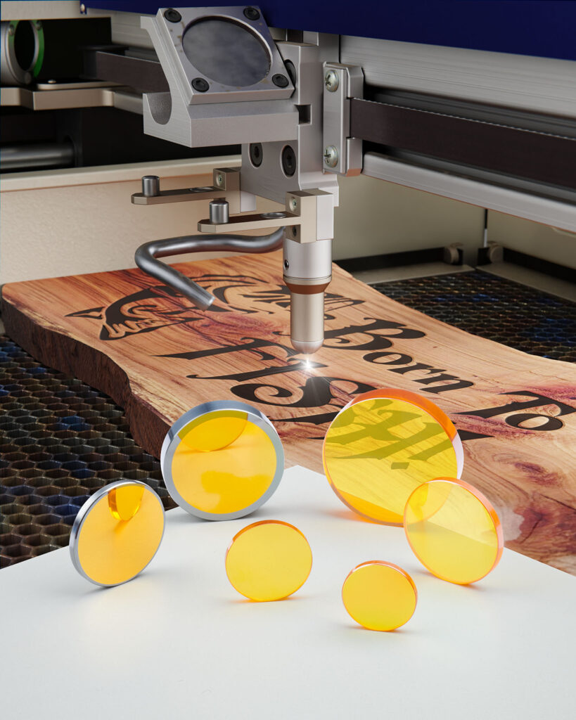CO2 LENSES AND MIRRORS REPLACEMENTS FOR WOOD SIGN-MAKING LASERS
